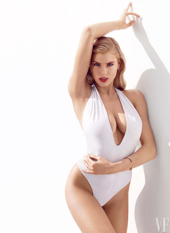 Charlotte McKinney White Bikini 3