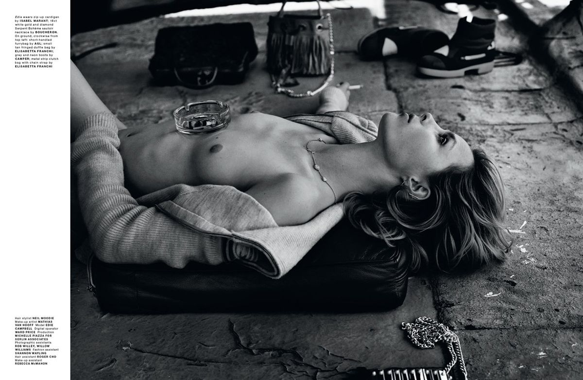 Edie Campbell Topless 1