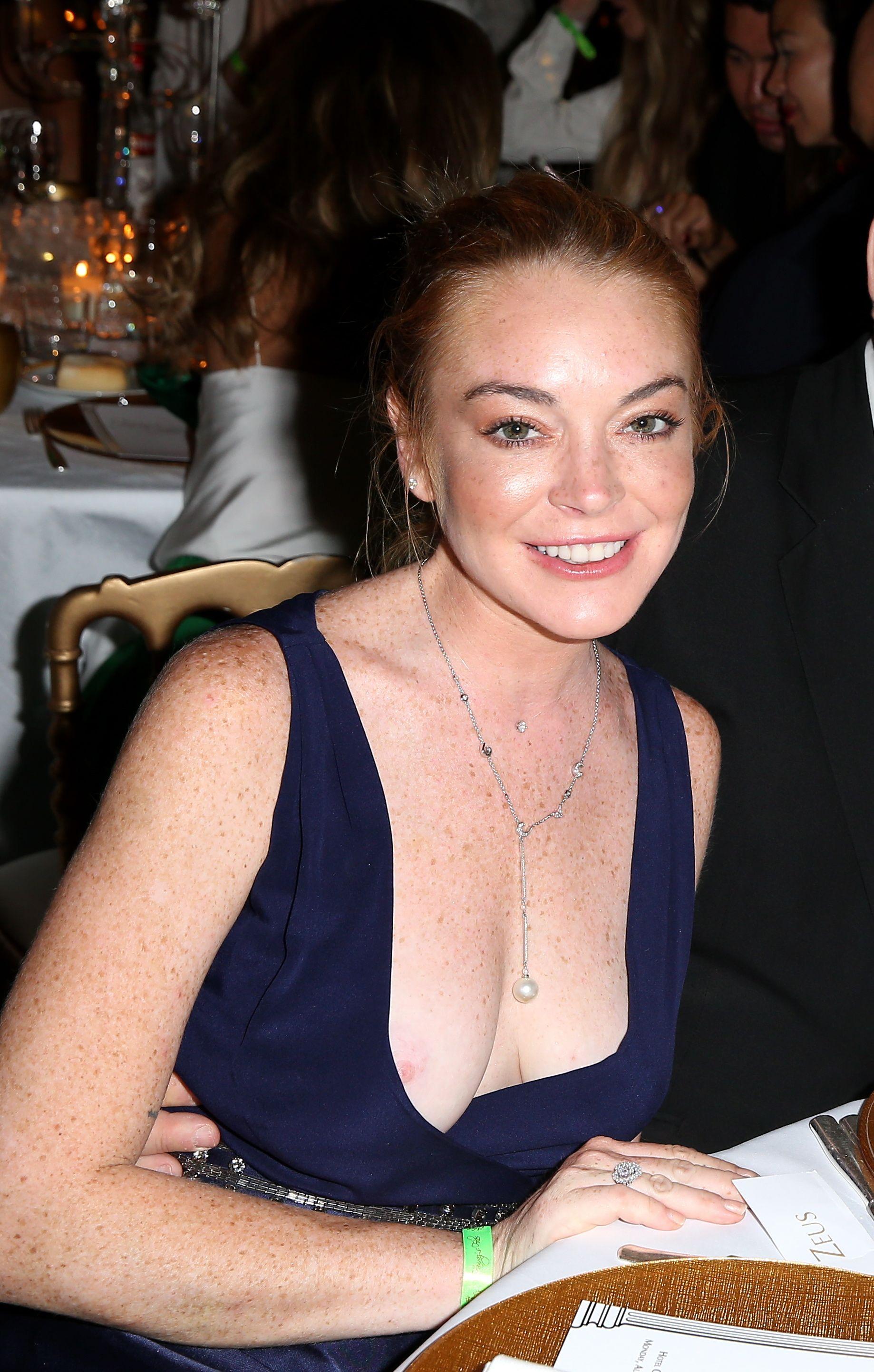 Lindsay Lohan Nip Slip 1