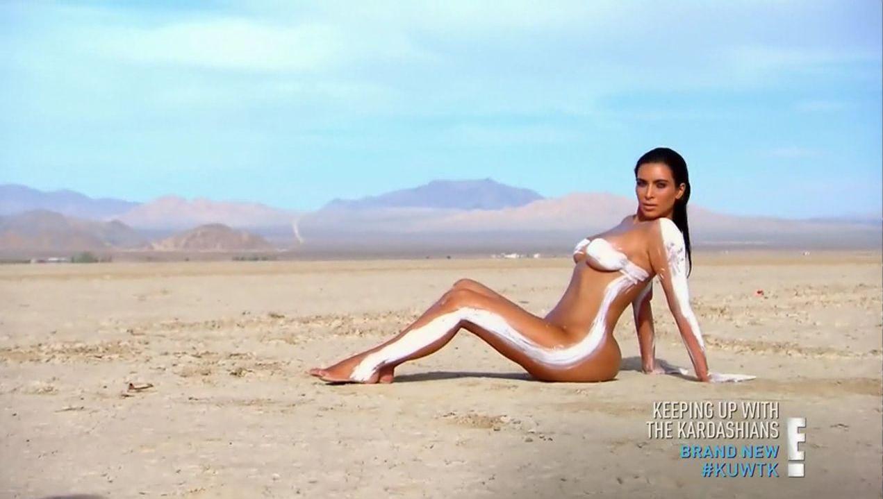 Naked Kim Kardashian 1