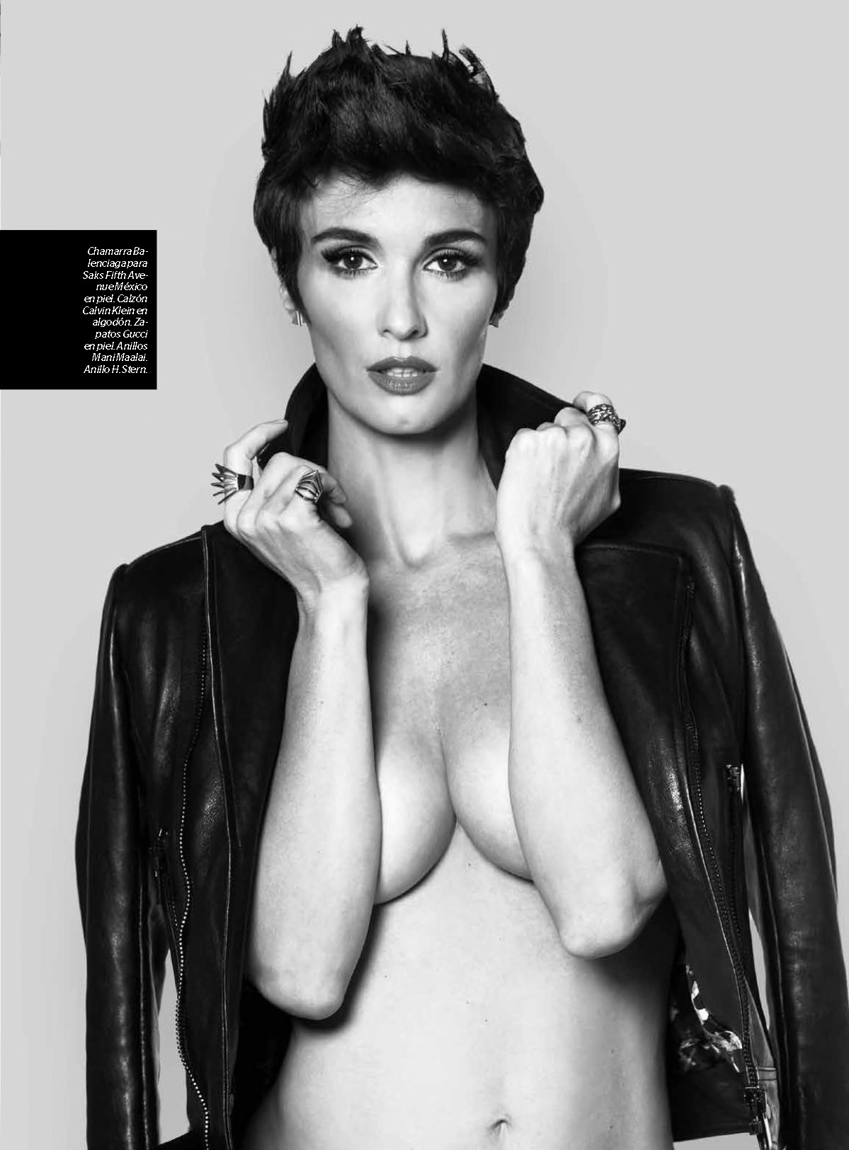 Paz Vega Topless Covered – Esquire Mexico – July 2015 4