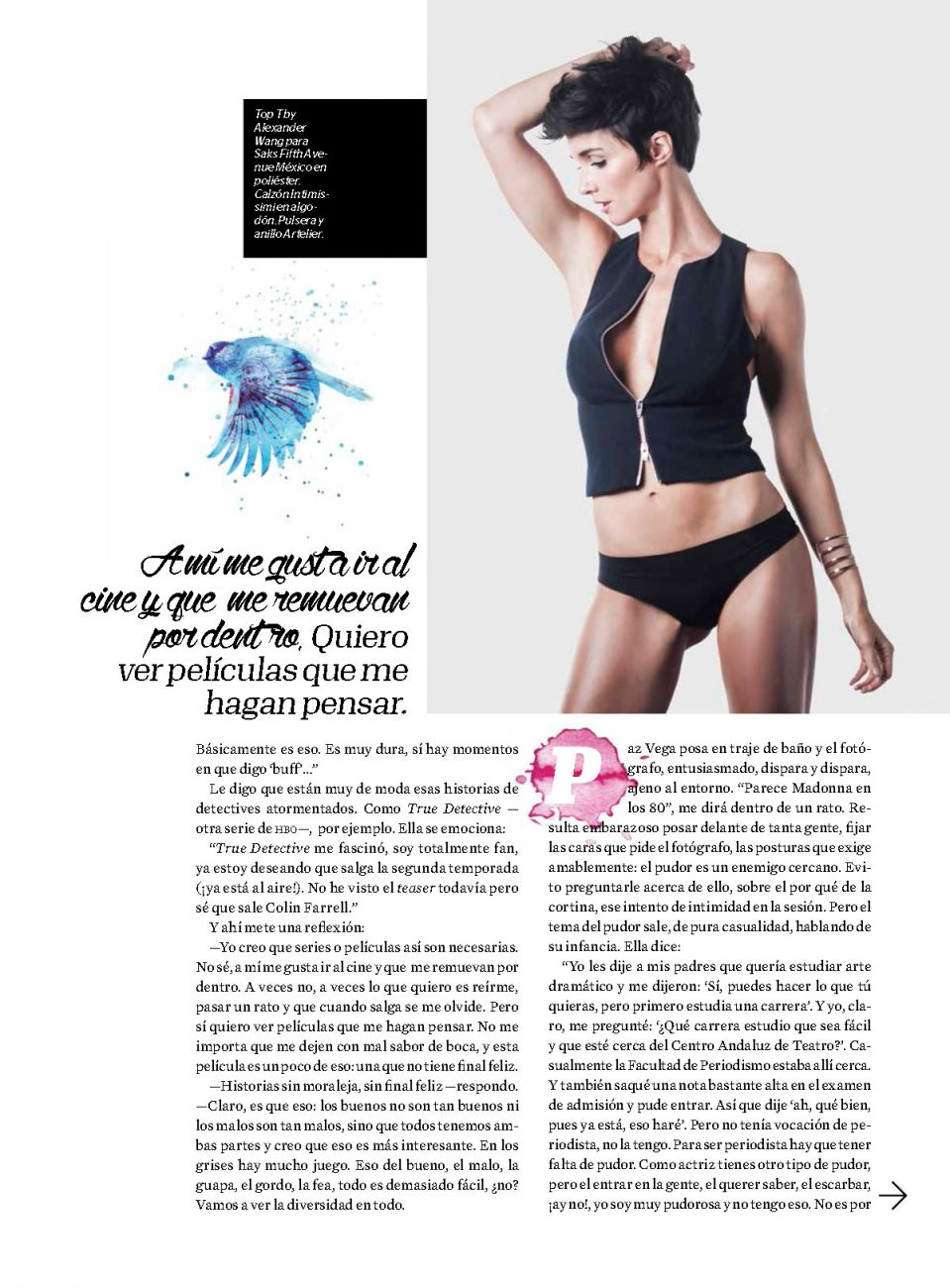 Paz Vega Topless Covered – Esquire Mexico – July 2015 6