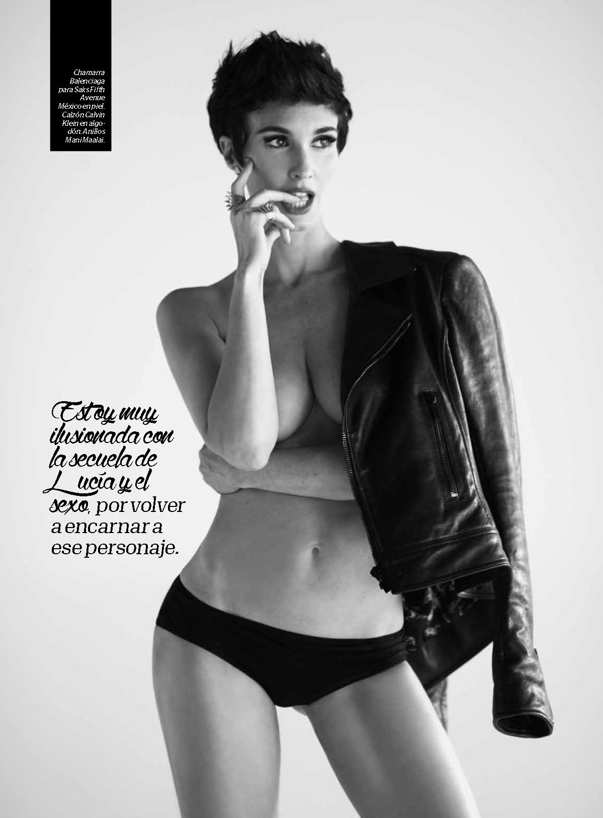 Paz Vega Topless Covered – Esquire Mexico – July 2015 7