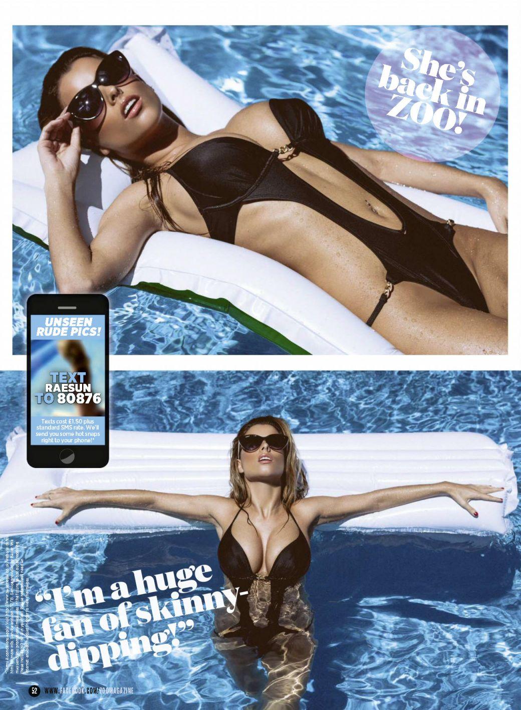 Rae Wearing Bikini In The Pages Of ZOO Magazine 3