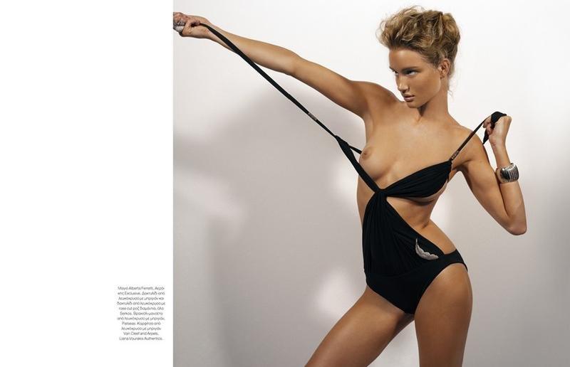 Topless Rosie Huntington Whiteley 2