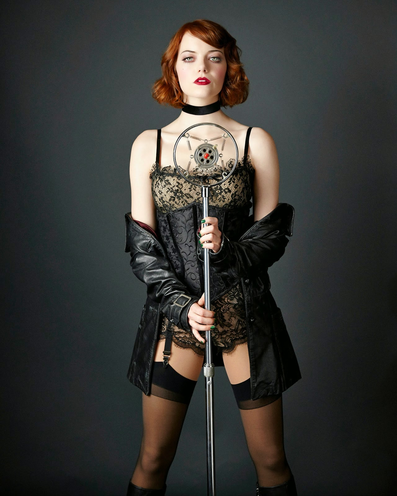 Emma Stone Hot Lace Linge...