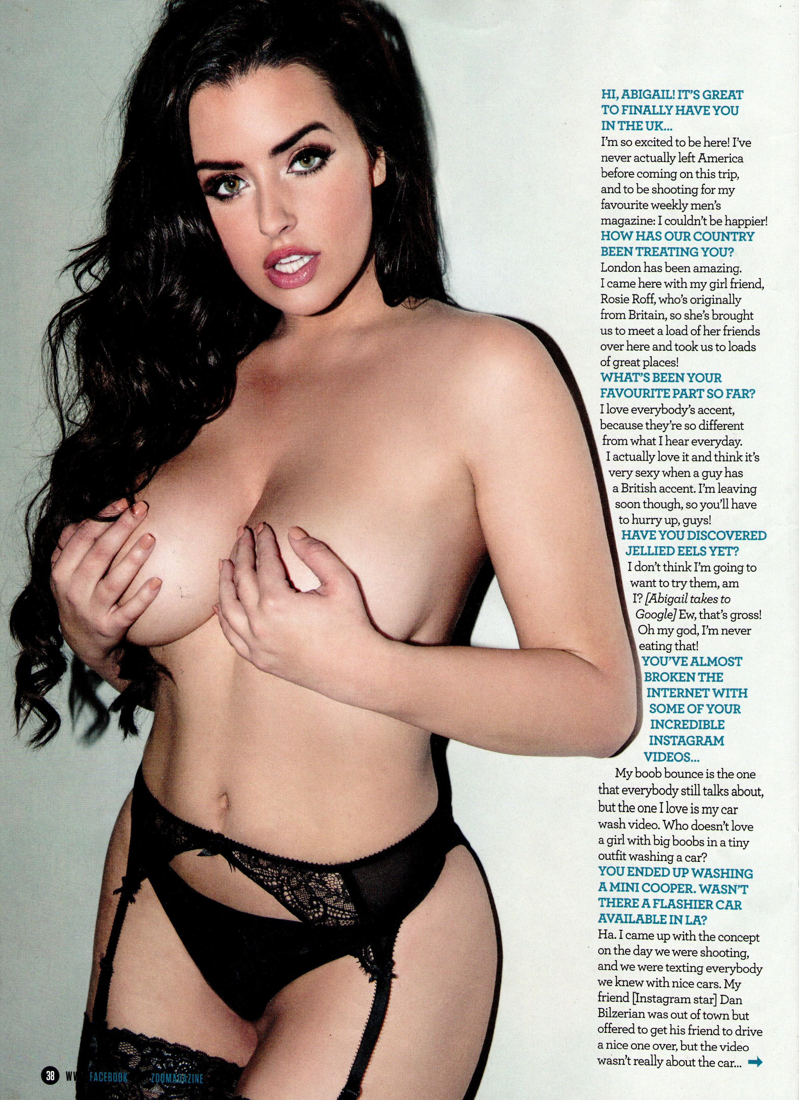 Abigail Ratchford Topless...