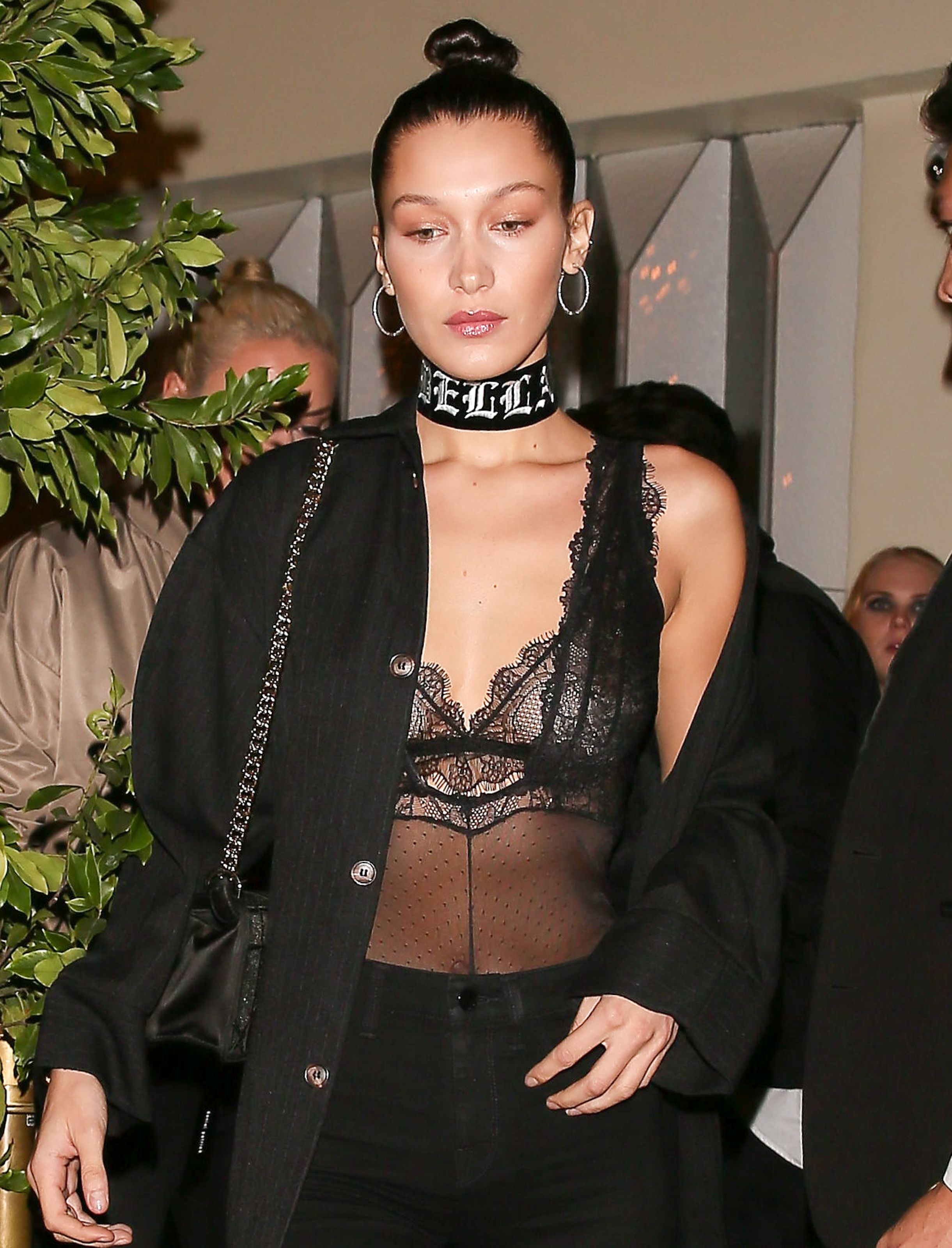 Bella Hadid See-through P...