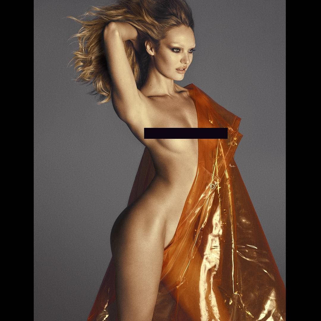 Candice Swanepoel Topless...