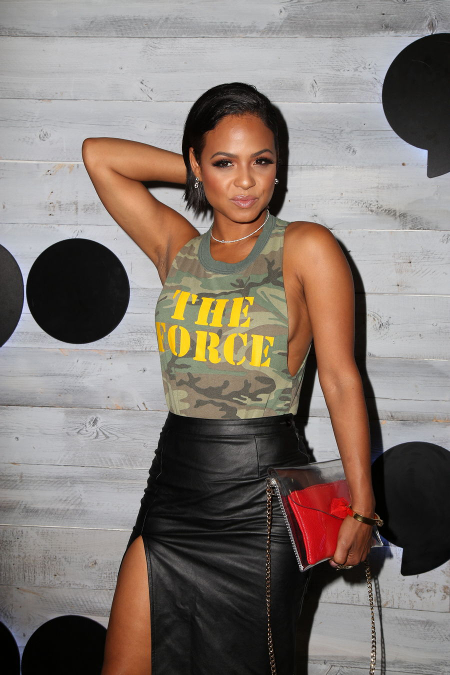 Christina Milian Leather ...