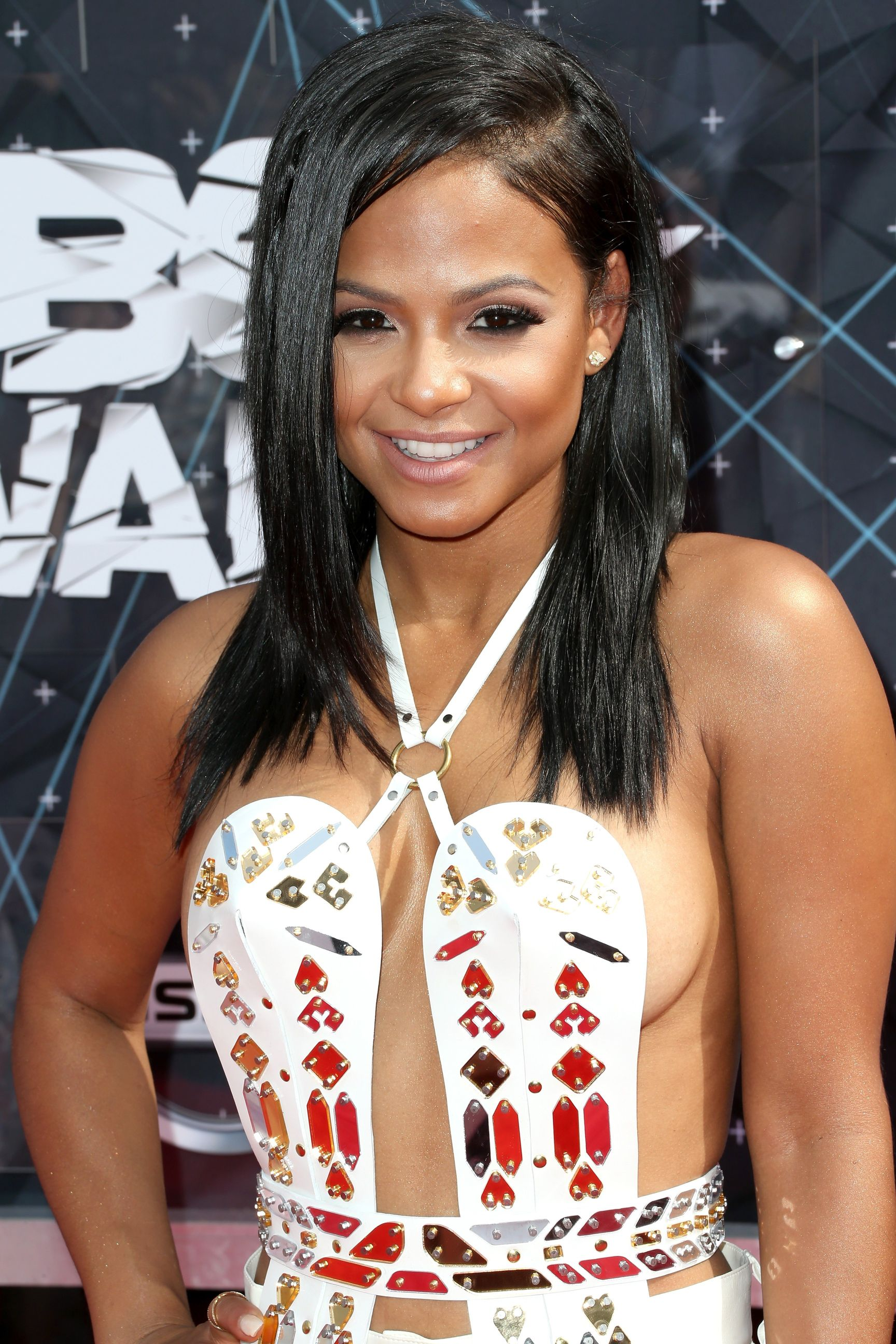 Christina Milian Braless