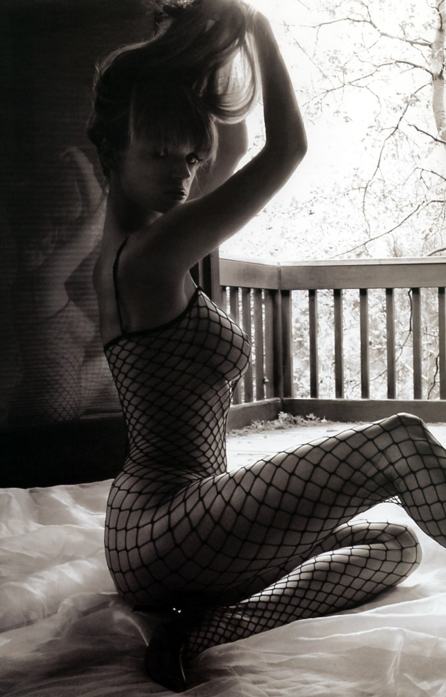 Fishnet stockings of Alicia Marie Clark
