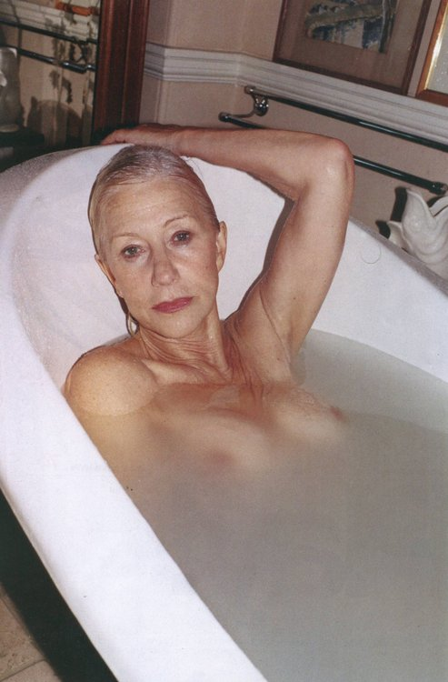 Helen Mitten in the bath