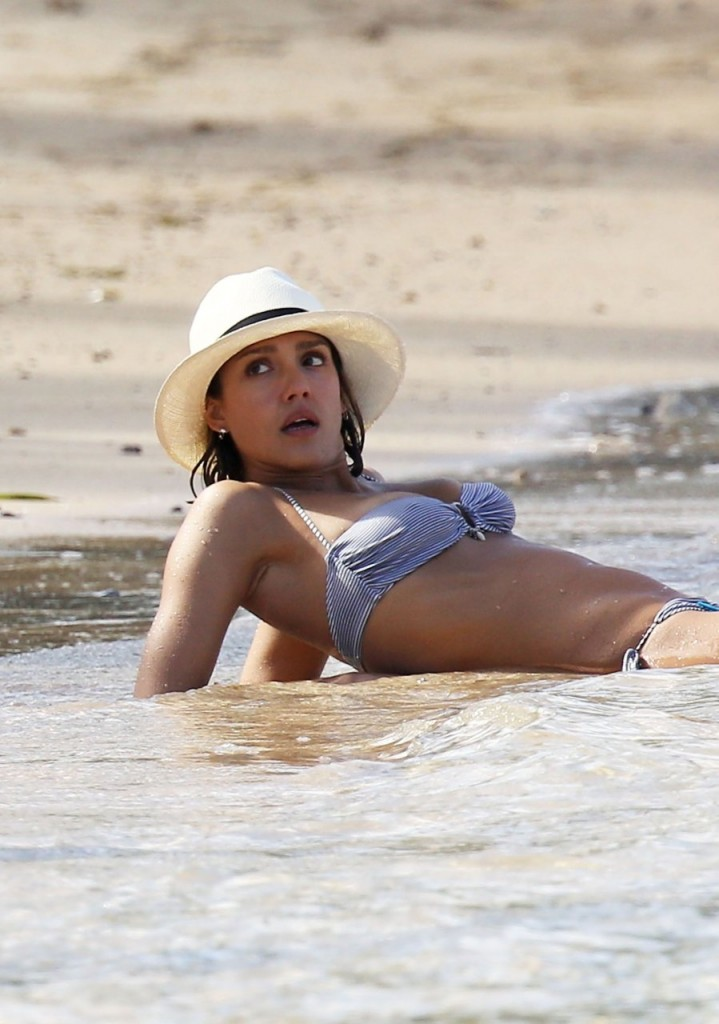Jessica Alba On The Beach