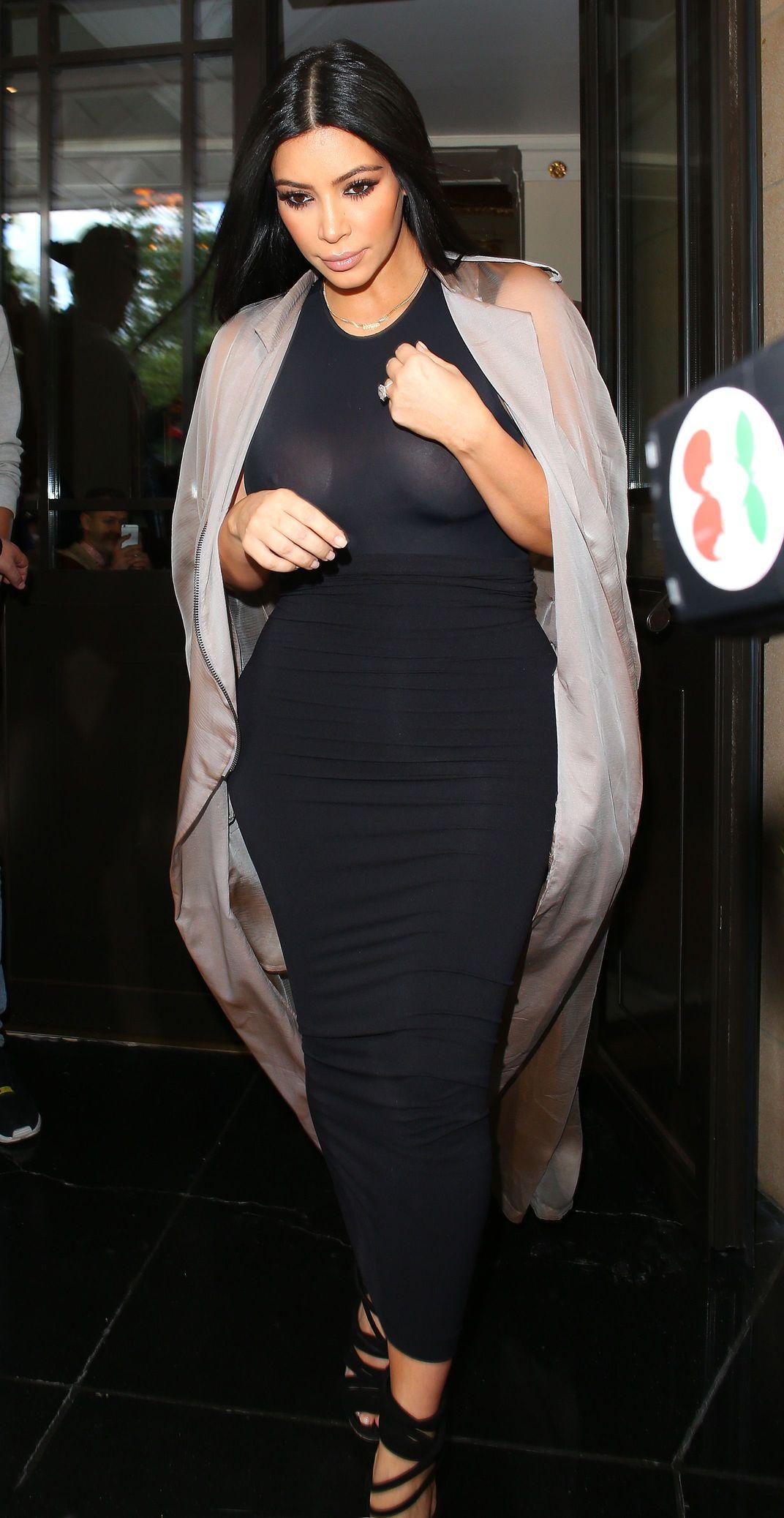 Kim Kardashian See Throug...