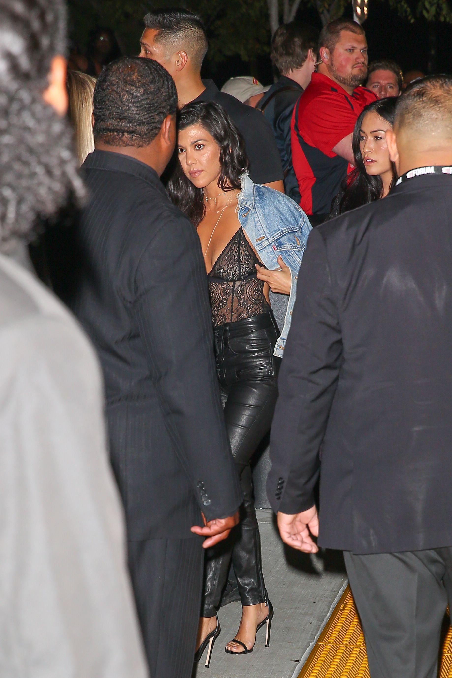 Kourtney Kardashian See-t...
