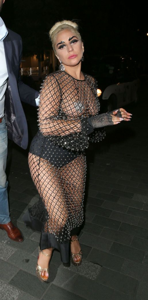Lady Gaga See-thru Photos