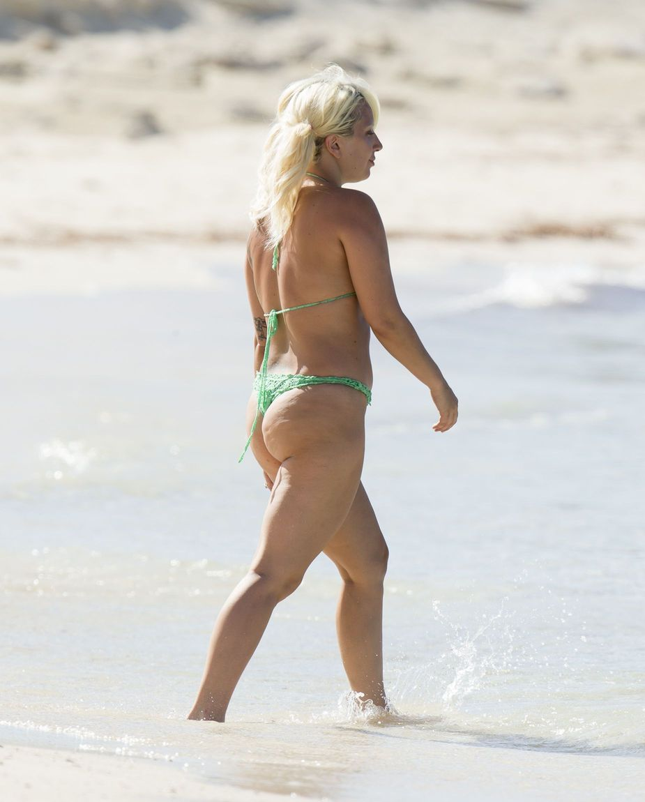 Lady Gaga Beach Photos