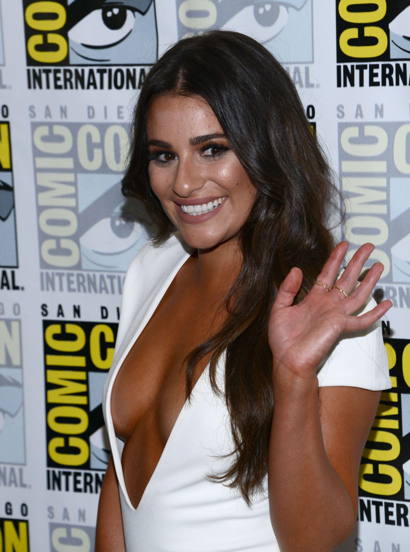 Lea Michele Cleavage Phot...