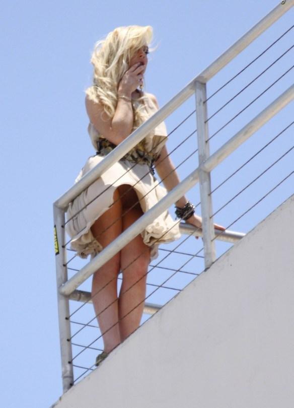 Lindsay Lohan Upskirt