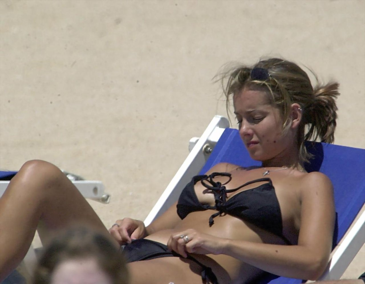Topless Louise Redknapp