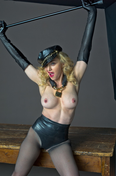 Madonna topless photoshoot 1