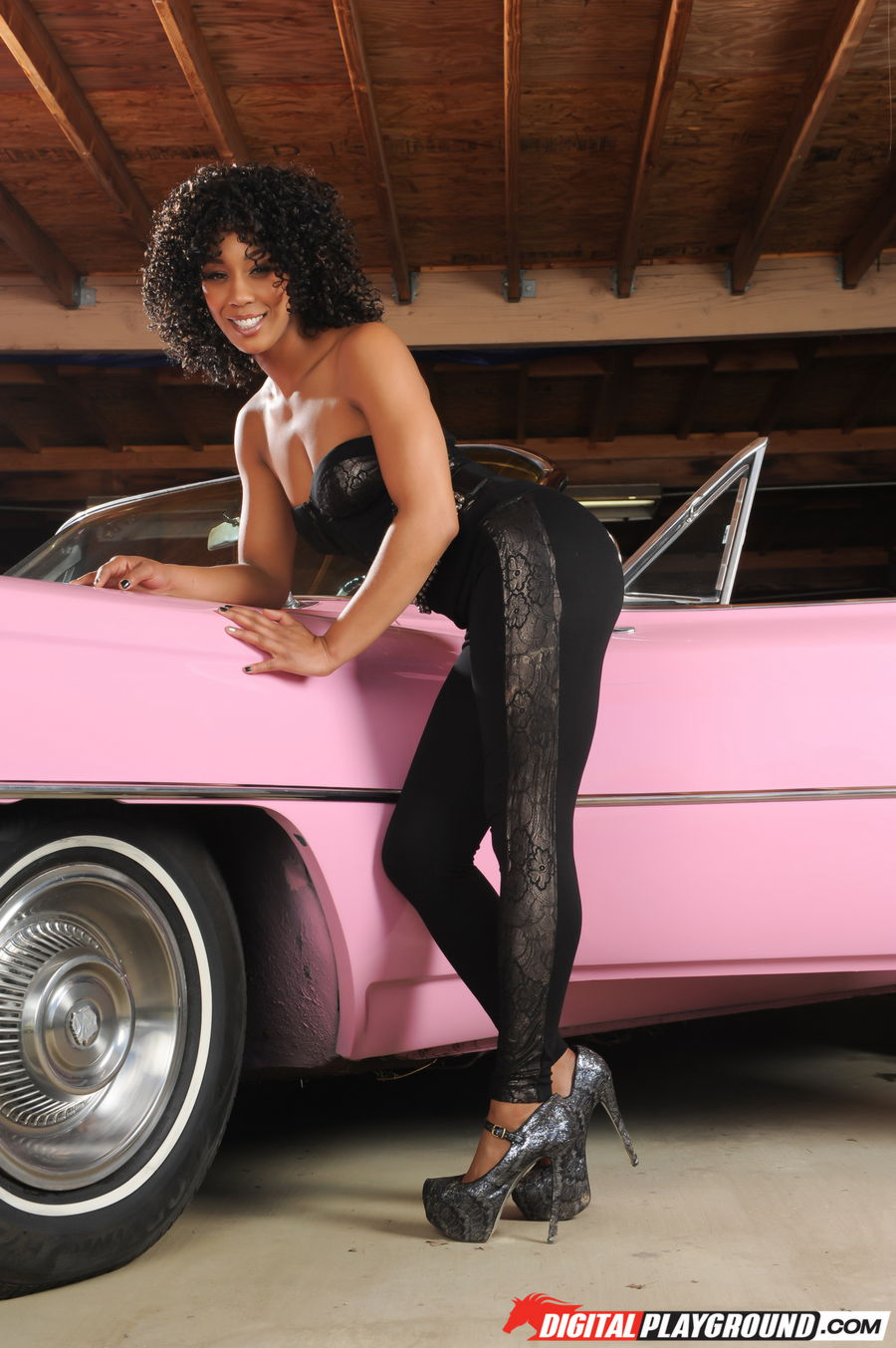 Misty Stone Posing Toples...
