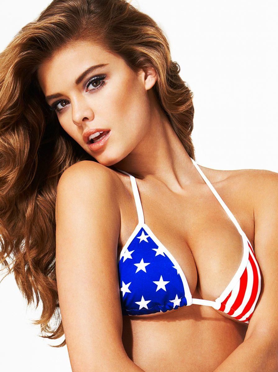 Nina Agdal Sexy Patriotic...