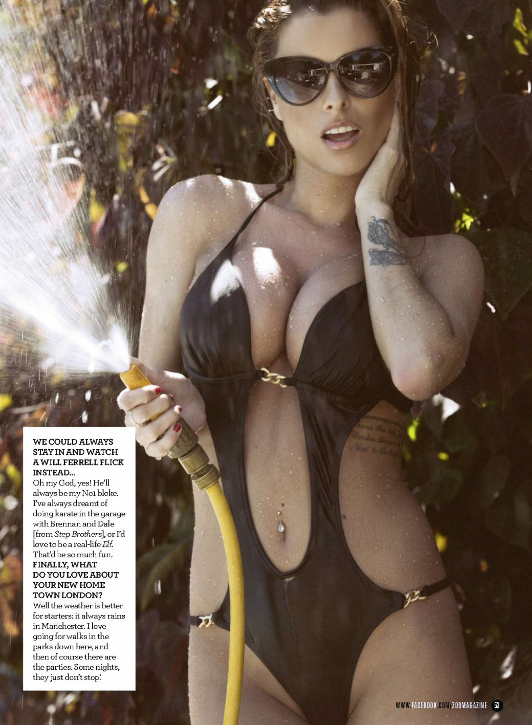 Rae wearing bikini in the pages of ZOO Magazine (2)