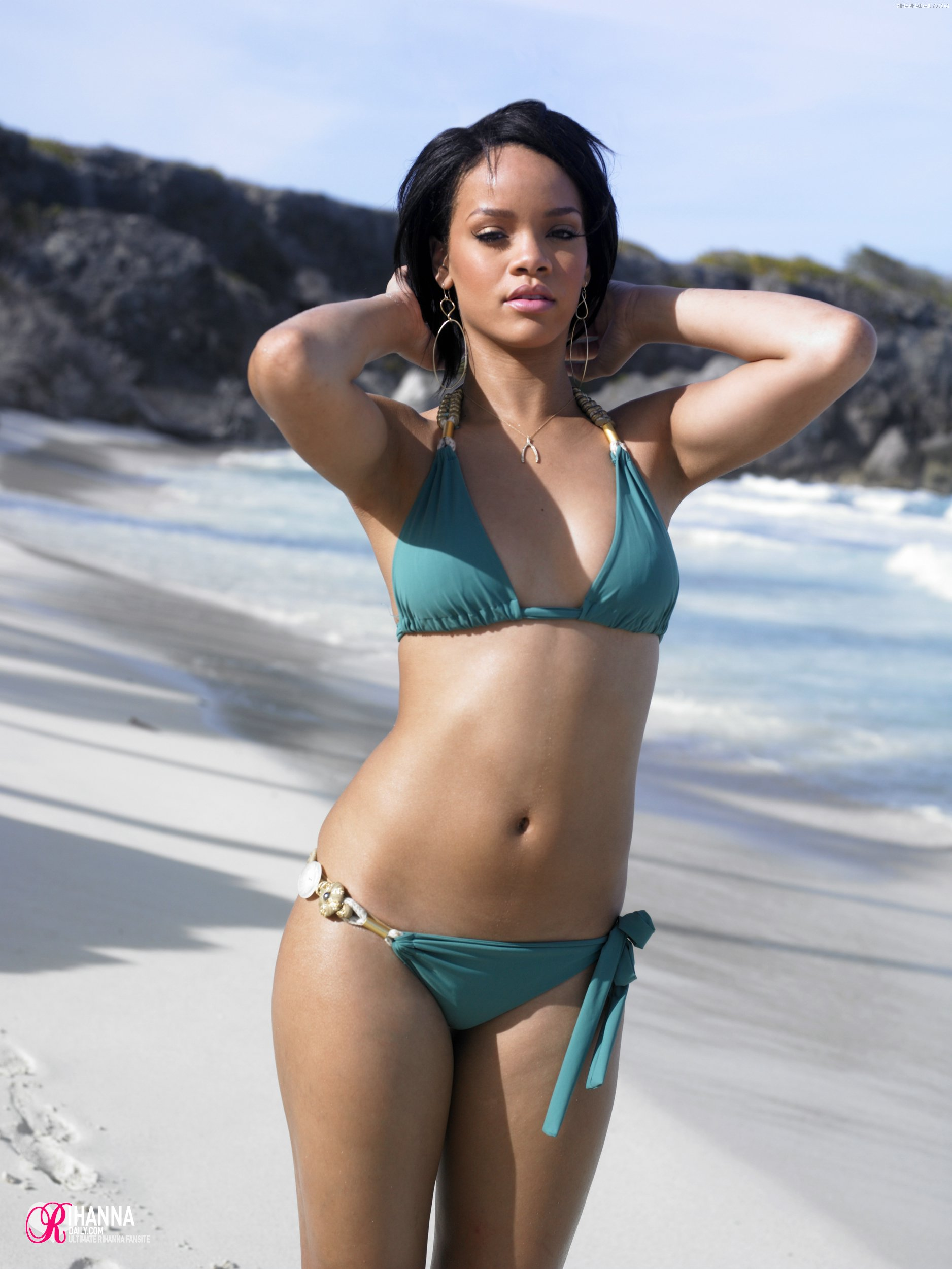 Rihanna Beach Photoshoot