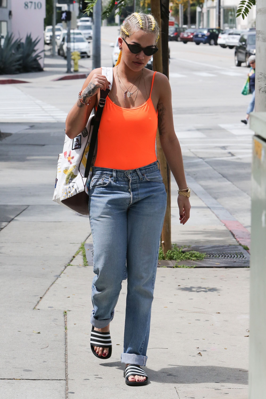Rita Ora Braless Pics