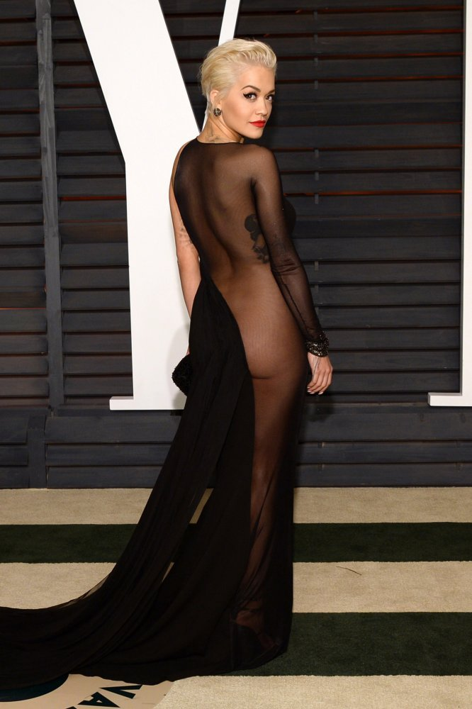 Rita Ora See-thru Dress