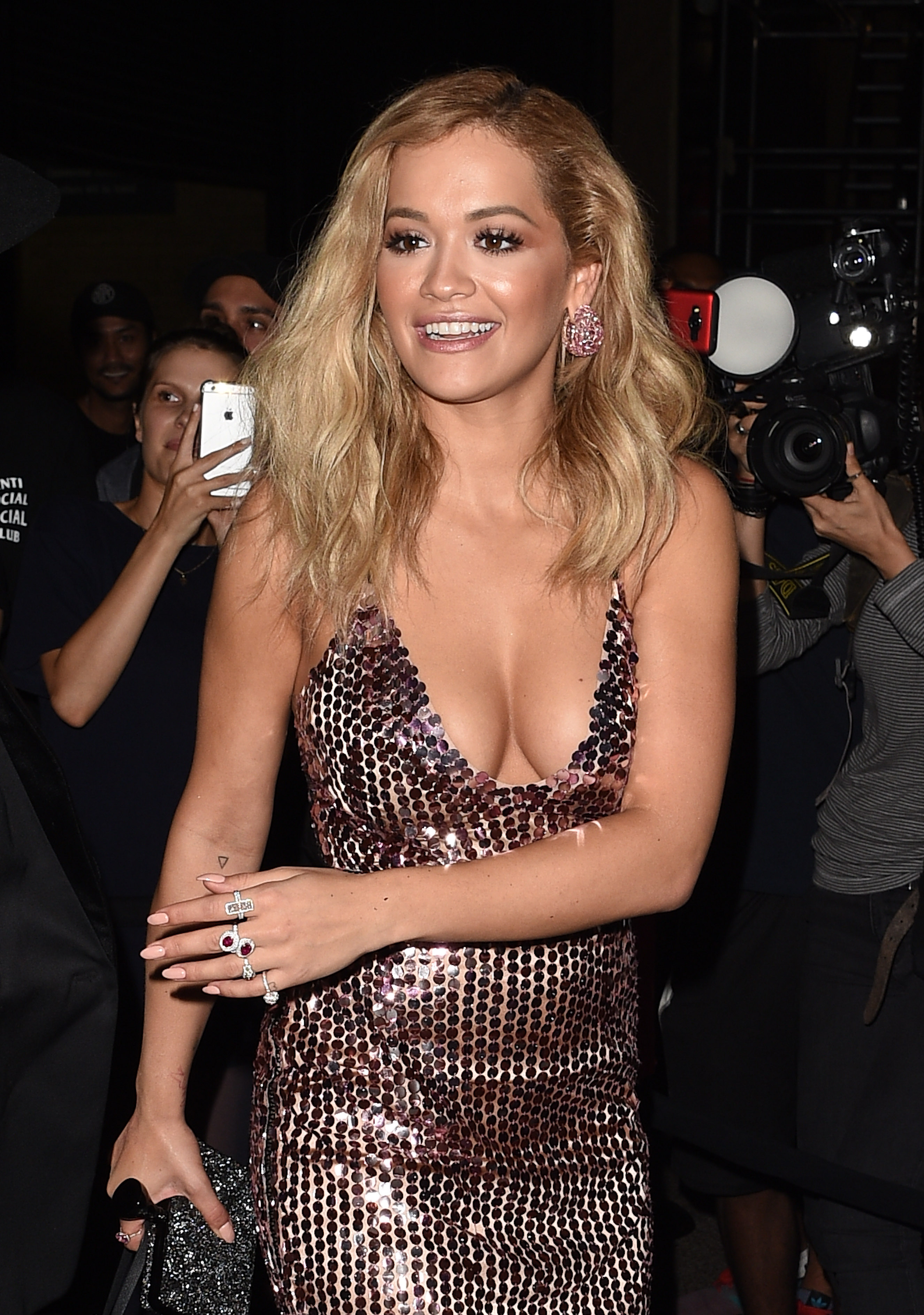 Rita Ora Cleavage Photos