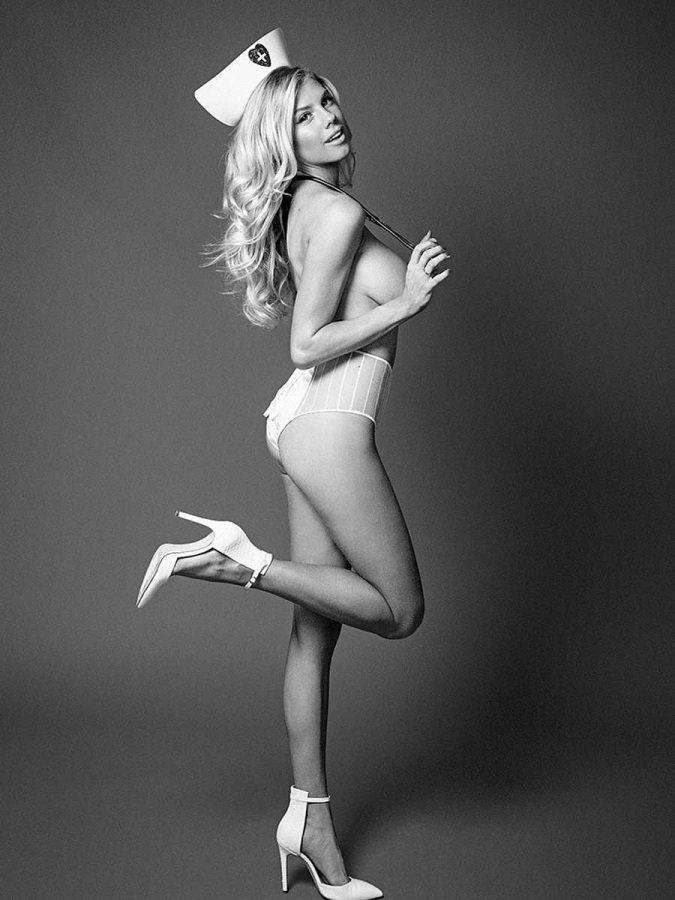 Topless Charlotte Mckinne...