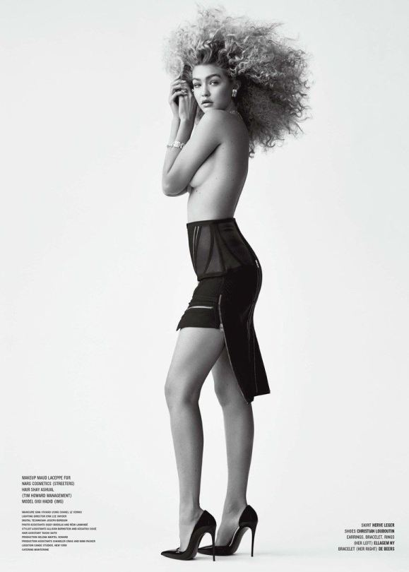 Topless Gigi Hadid