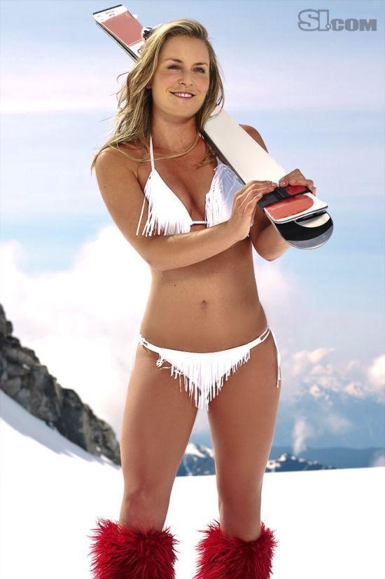 Lindsey Vonn Half Naked (...
